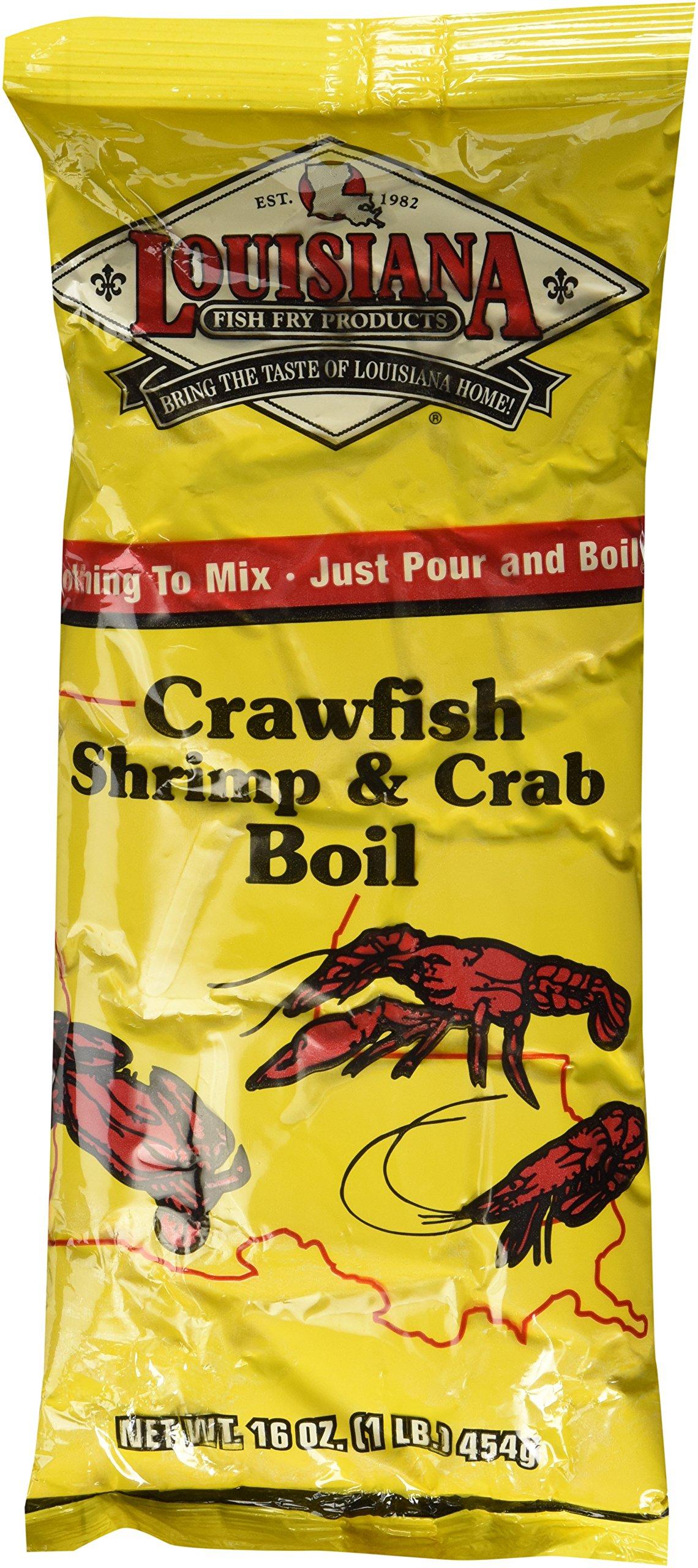 Louisiana Fish Fry Crawfish, Shrimp & Crab Boil, 16oz,(Pack of 3)
