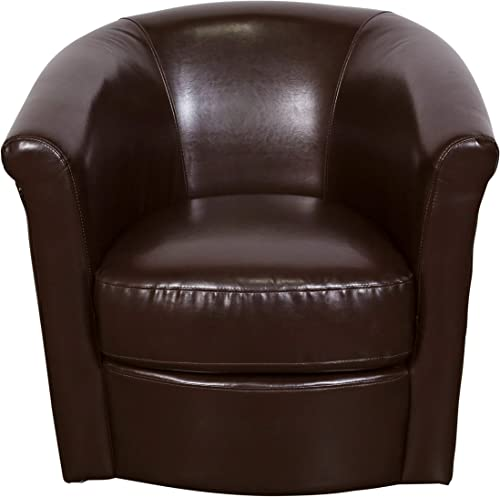 Porter Designs Marvel Swivel Accent Chair, Single-Seat, Chocolate