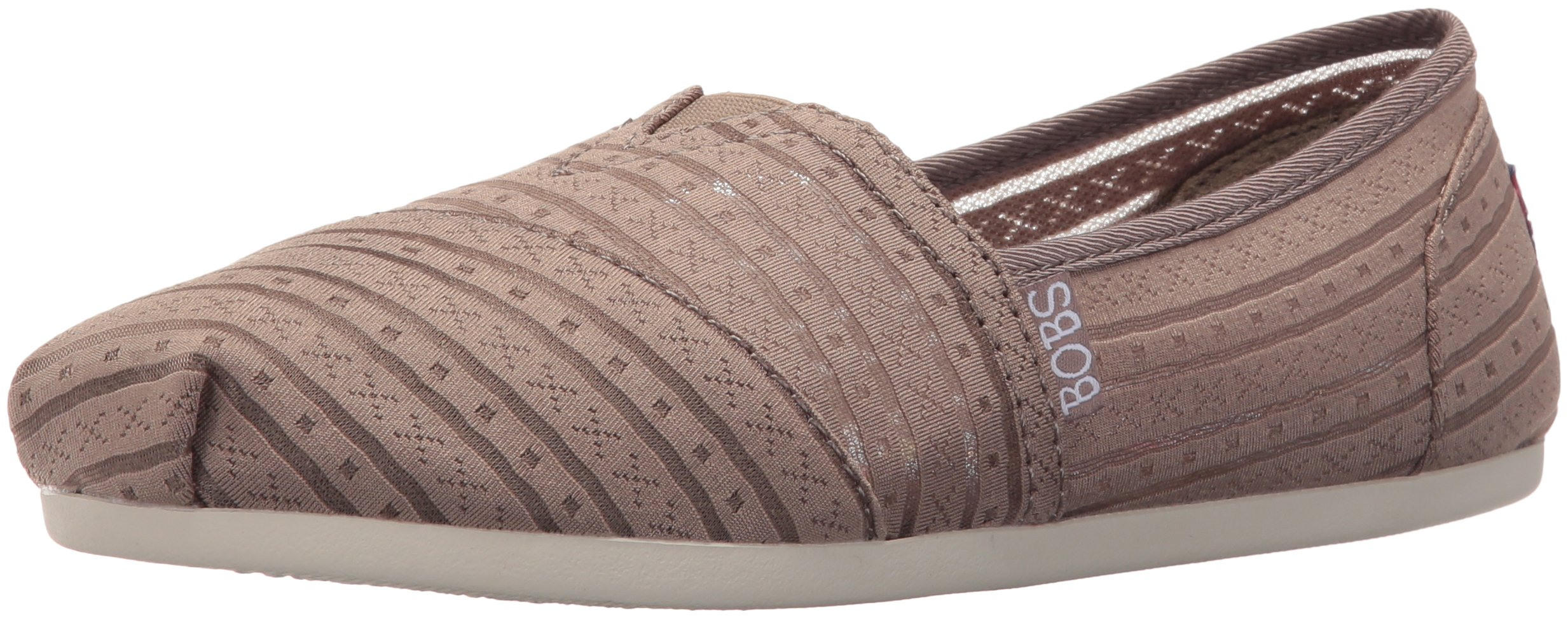 Skechers BOBS from Women's Plush-Urban Rose Flat, Urban Rose Taupe, 10 M US