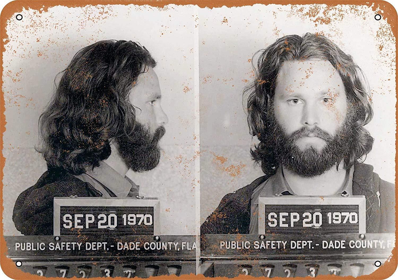 HiSign Jim Morrison Exposure Ferro Dipinto placca di Targa in Metallo Metallo Vintage Decorazione della Parete Poster per House Cafe Restaurant Bar