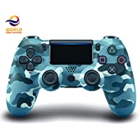 EWORLD® DualShock 4 Wireless Controller For PlayStation 4 (Blue Camo)