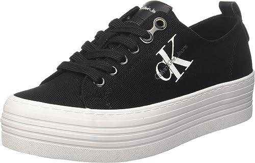 Black Zolah Canvas Platform Sneakers-UK