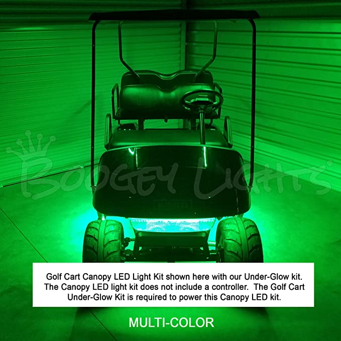 Amazon.com: Boogey Lights KMV-GC-CANOPY-WH-RGB Multi-Color Golf Cart on golf cart light kits, golf cart trunk kits, golf cart dashboard kits, golf cart horn kits, golf cart frame kits, golf cart building kits, golf cart dump bed kits, golf cart windshield kits, golf cart carpet kits, golf cart speedometer kits, golf cart garage kits, golf cart speaker kits, golf cart dash kits, golf cart seat belt kits, golf cart canopy kits,