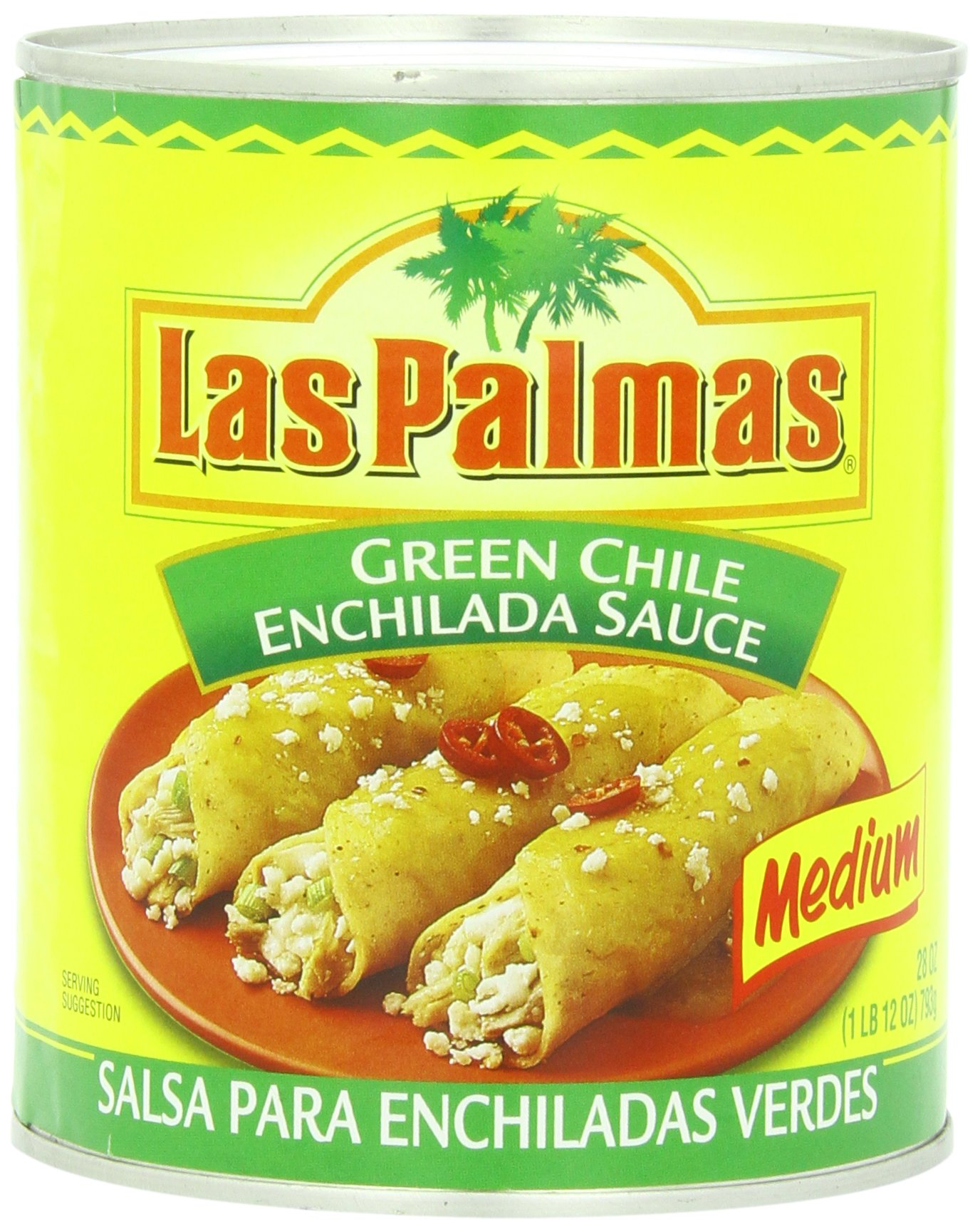 Las Palmas Enchilada Sauce, Medium Green Chile, 28 Ounce (Pack of 12)
