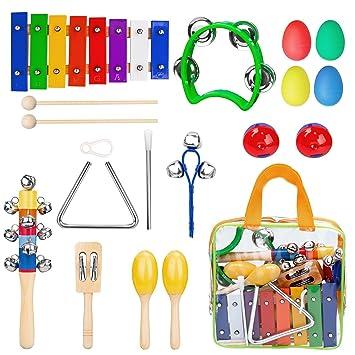 Instrumentos Musicales para Niños, Xilofono Ninos Infantil, Banda de Ritmo de Juguetes de Percusión