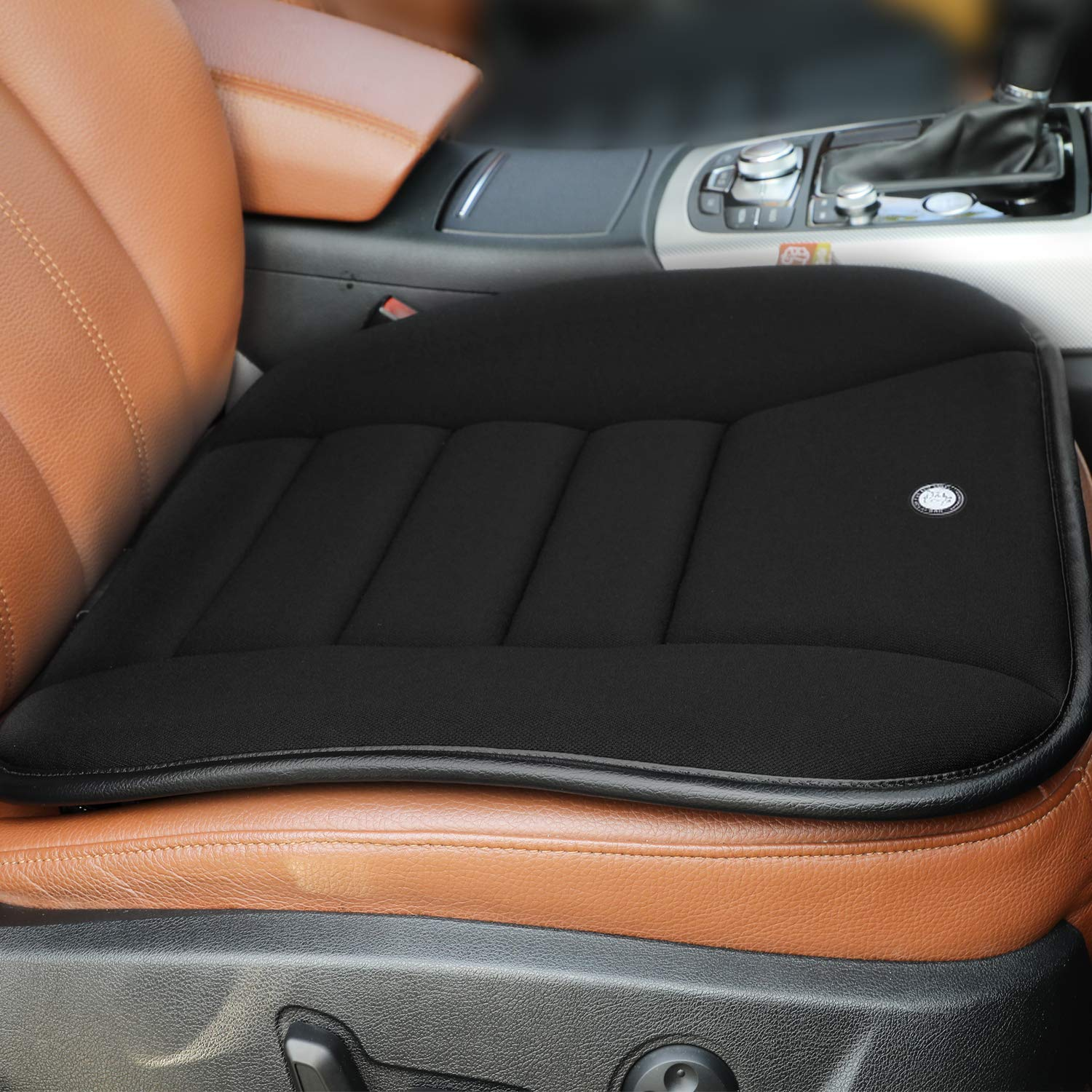 Car Seat Cushion Pad for Car Driver Seat Office Chair Home Use Memory Foam Seat Cushion Black