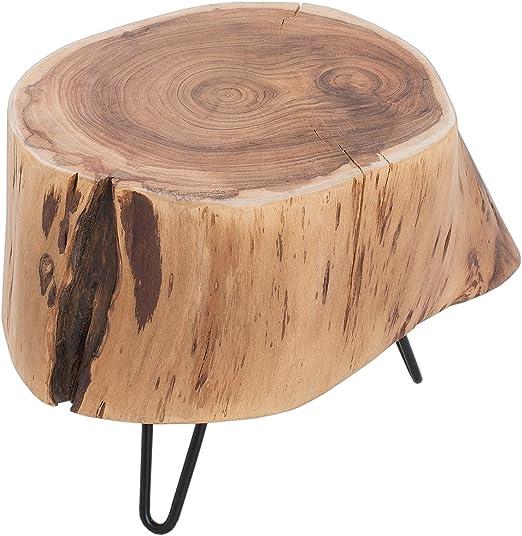 40x40 cm Höhe 45 cm Buche Massiv-Holz Couchtisch mit Ablage Beistelltisch ca