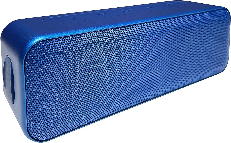 Amazon Basics Bluetooth Stereo Lautsprecher Mit Wasserabweisendem Design 15 W Blau Audio Hifi