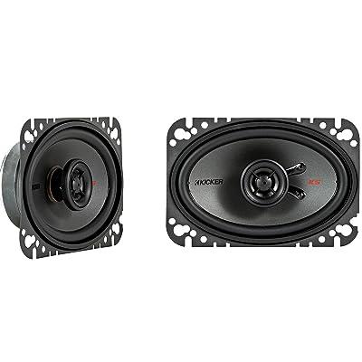 "Kicker KSC4604 KSC460 4x6 Coax Speakers with .5"" tweeters 4-Ohm"