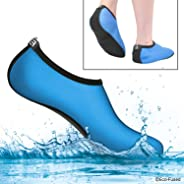 Water Socks or Shoes for Women - Extra Comfort - Protects Against Sand, Cold/Hot Water, UV, Rocks/Pebbles - Easy Fit Footwear