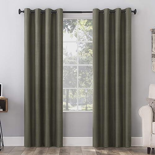 Sun Zero Columbia 2-Pack Thermal Energy Saving Total Blackout Grommet Curtain Panel Pair