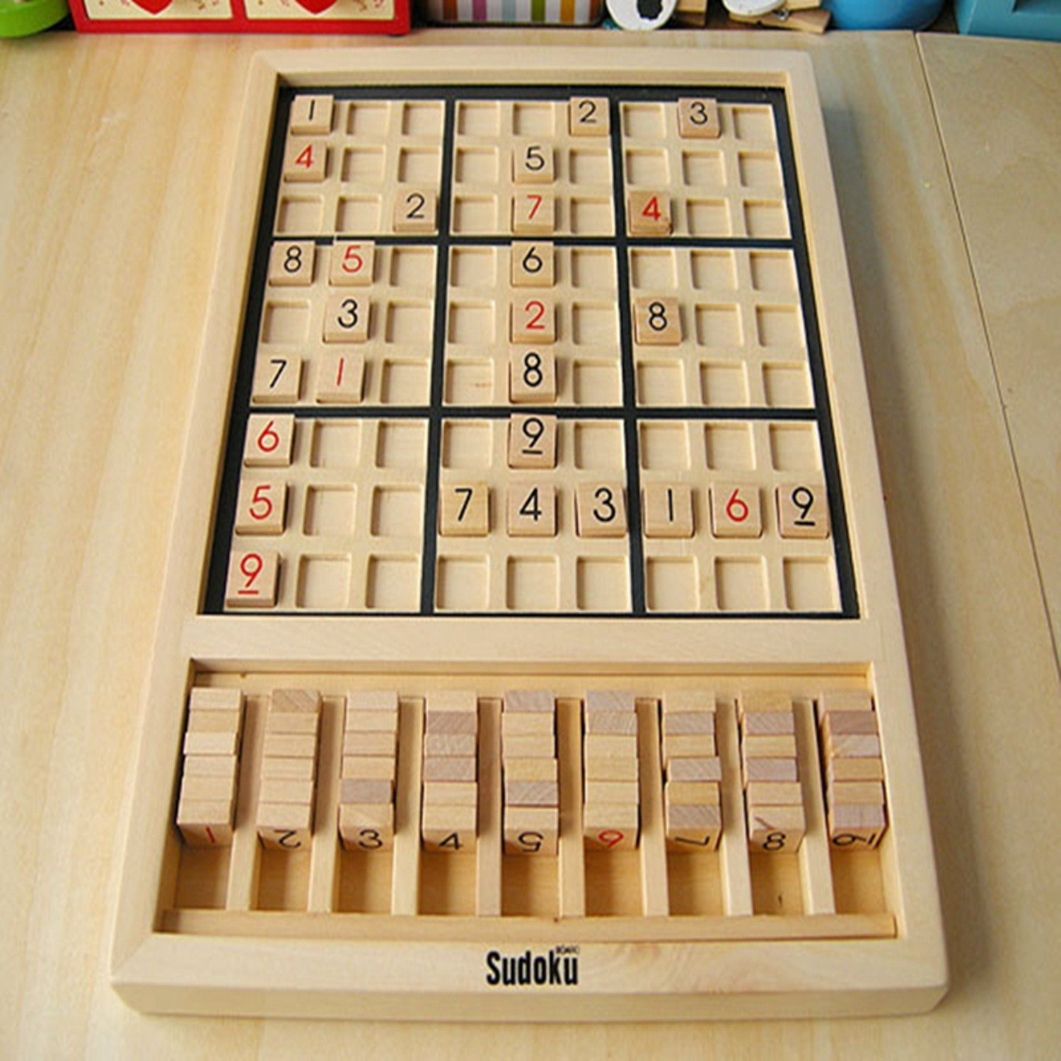 Wooden Puzzle Sudoku Play Game For Children Rompecabezas Brinquedos Educativos Educational Toy Adult Logical Thinking