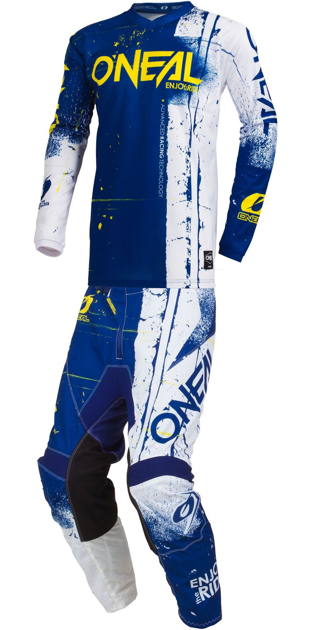 O'Neal 2019 Element Shred (Mens Blue Large/34W) MX Riding Gear Combo Set, Motocross Off-Road Dirt Bike Jersey & Pant