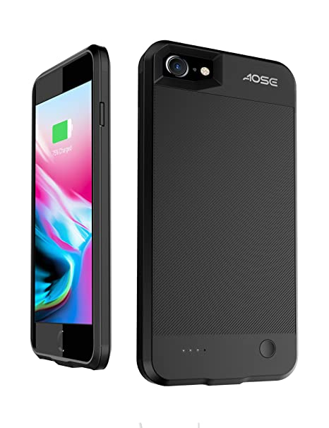 differently 47992 aa34f Aose iPhone 7 8 Battery Charger Case,Ultra Slim Portable Charging Case  Extended Smart Phone Battery Case for Apple iPhone 7/8 Protective  Rechargeable ...