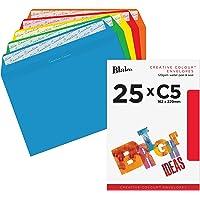 Blake Creative Colour Boîte de 25 Enveloppes C5 162 x 229 mm 120 g Couleurs Assorties