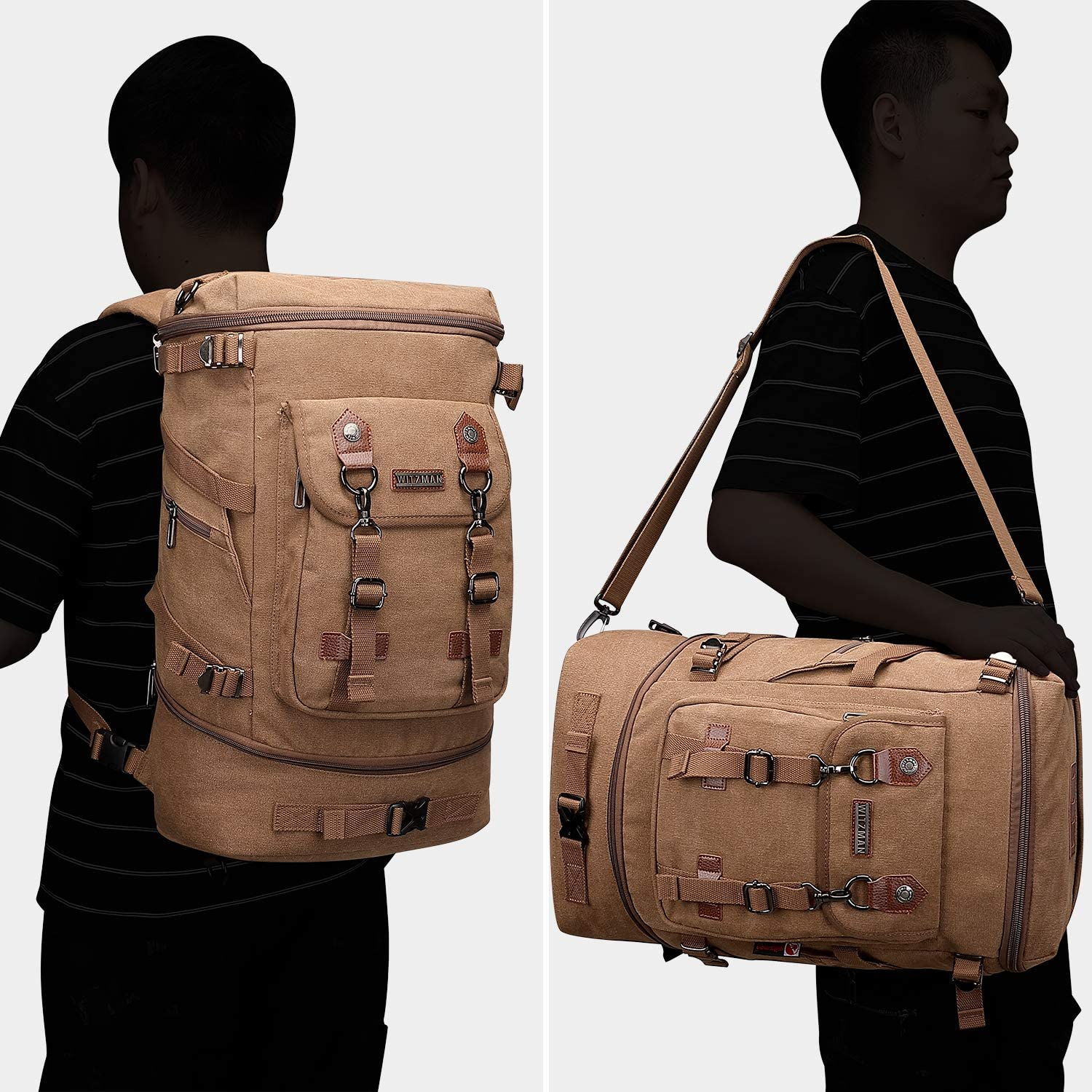 Men and Women Big Capacity Computer Canvas Travel Boarding Backpack Suitable for outings//Hiking//Schools Keiwqgf WHYNMG-SUJBBO Backpack Color : Gray, Size : 42cm29cm10cm