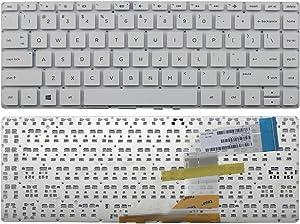 US Layout Laptop Keyboard for HP 14-V 14-V000 14-V100 Series (White)
