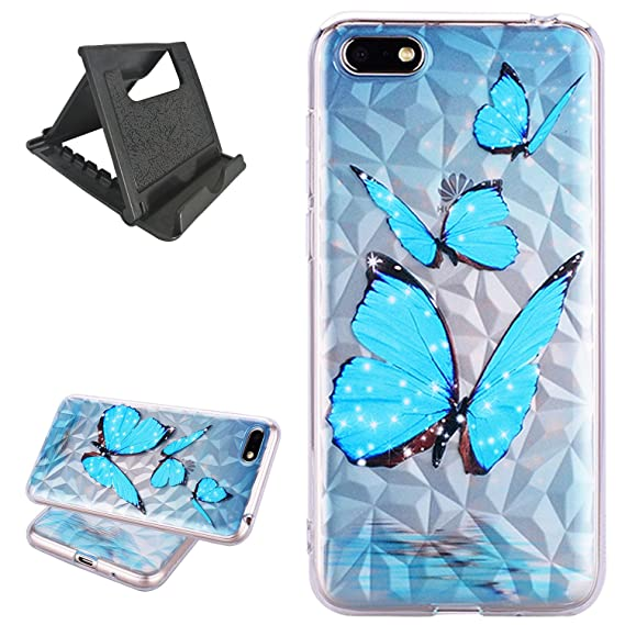 QY Mart Huawei Y5 2018 Case,Soft TPU Gel Protective Bumper Cover for Huawei  Y5 2018,Diamond Pattern Shell and [Ultra-Thin] [Anti-Drop] Shock