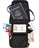RFID Blocking Passport Holder & Neck Stash from Tarriss - Lifetime Warranty