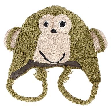 Grün Affe Green Monkey Häkeln Nepal Tier Hut: Amazon.de: Bekleidung