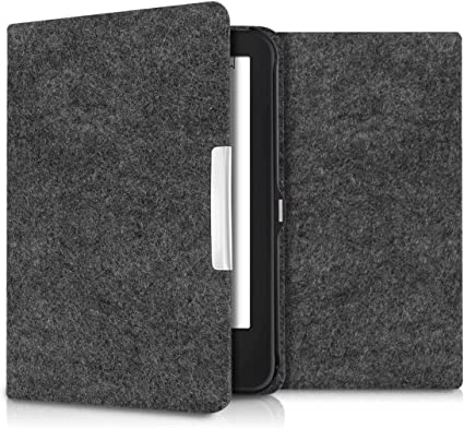 kwmobile Case for Kobo Glo HD//Touch 2.0 Book Style PU Leather Protective e-Reader Cover Folio Case Dandelion Love Black//White