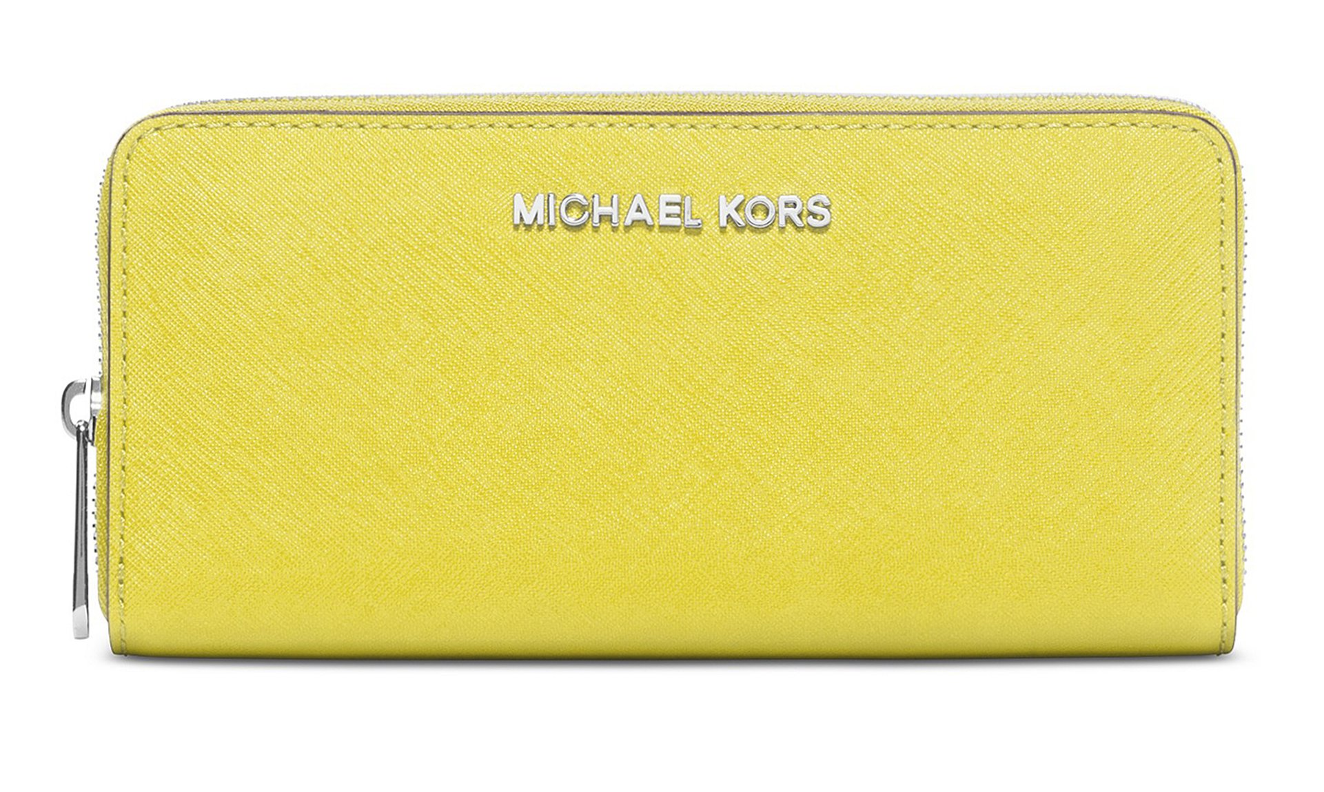 Michael Kors Jet Set Travel Canary Saffiano Leather Zip Around Continental Wallet by Michael Kors