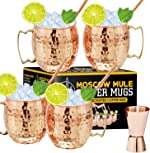 Moscow Mule Copper Mugs - Set of 4, 16 oz Copper