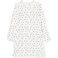 Sanetta Sleepshirt Broken White Camisón Fino Hermoso Estampado Completo de una Mezcla de algodón Modal Fluido. para…