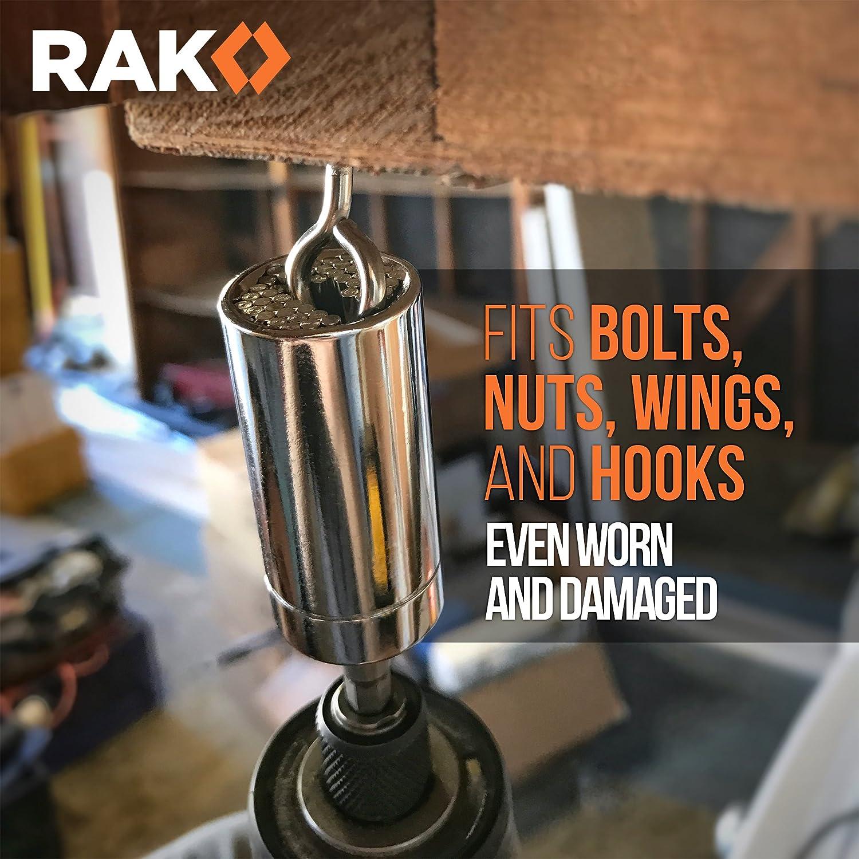 RAK Universal Socket Grip (7-19mm) Multi-Function Ratchet Wrench Power Drill Adapter 2Pc Set - Best Unique Christmas Gift for Men, DIY Handyman, Father/Dad, Husband, Boyfriend, Him, Women
