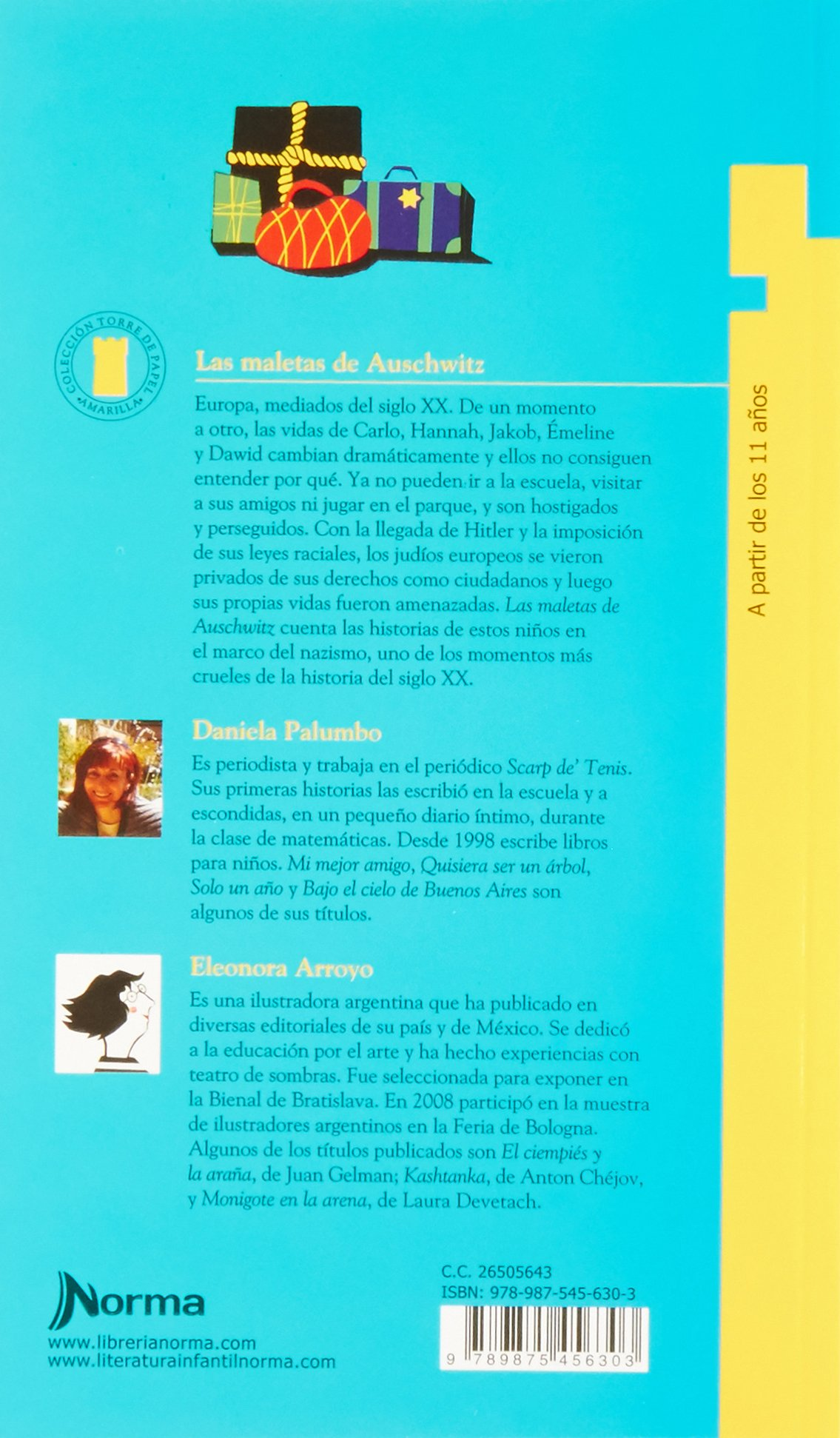 MALETAS DE AUSCHWITZ, LAS - T.P. AMARILLA: DANIELA PALUMBO: 9789875456303: Amazon.com: Books