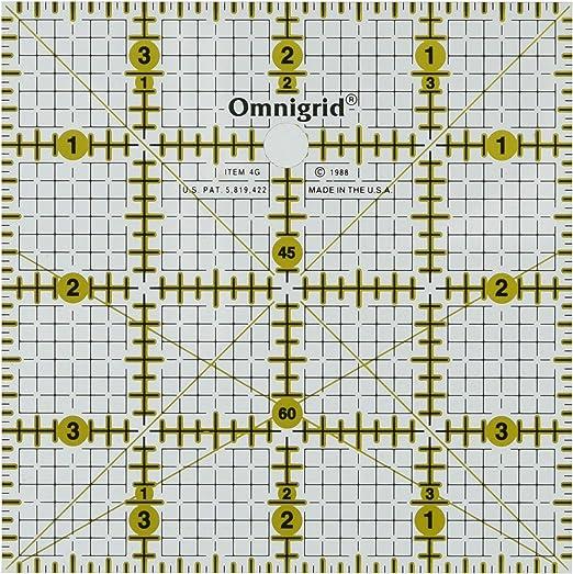 """Omnigrid Quilter/'s Square 4/""""x4/"""" R4G"""