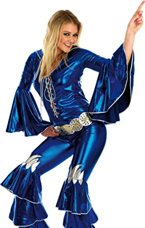 49f443aa6474 Blue Dancing Queen - Abba. Costume Fancy Dress Clothing. Size   Small.