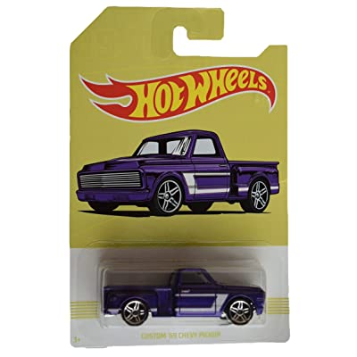 Hot Wheels Purple Custom '69 Chevy Pickup 9/10: Toys & Games