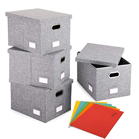 Amazon Com Magicfly Decorative File Box With 5 Hanging