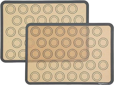 AmazonBasics - Tapete de silicona para hornear macarons ...