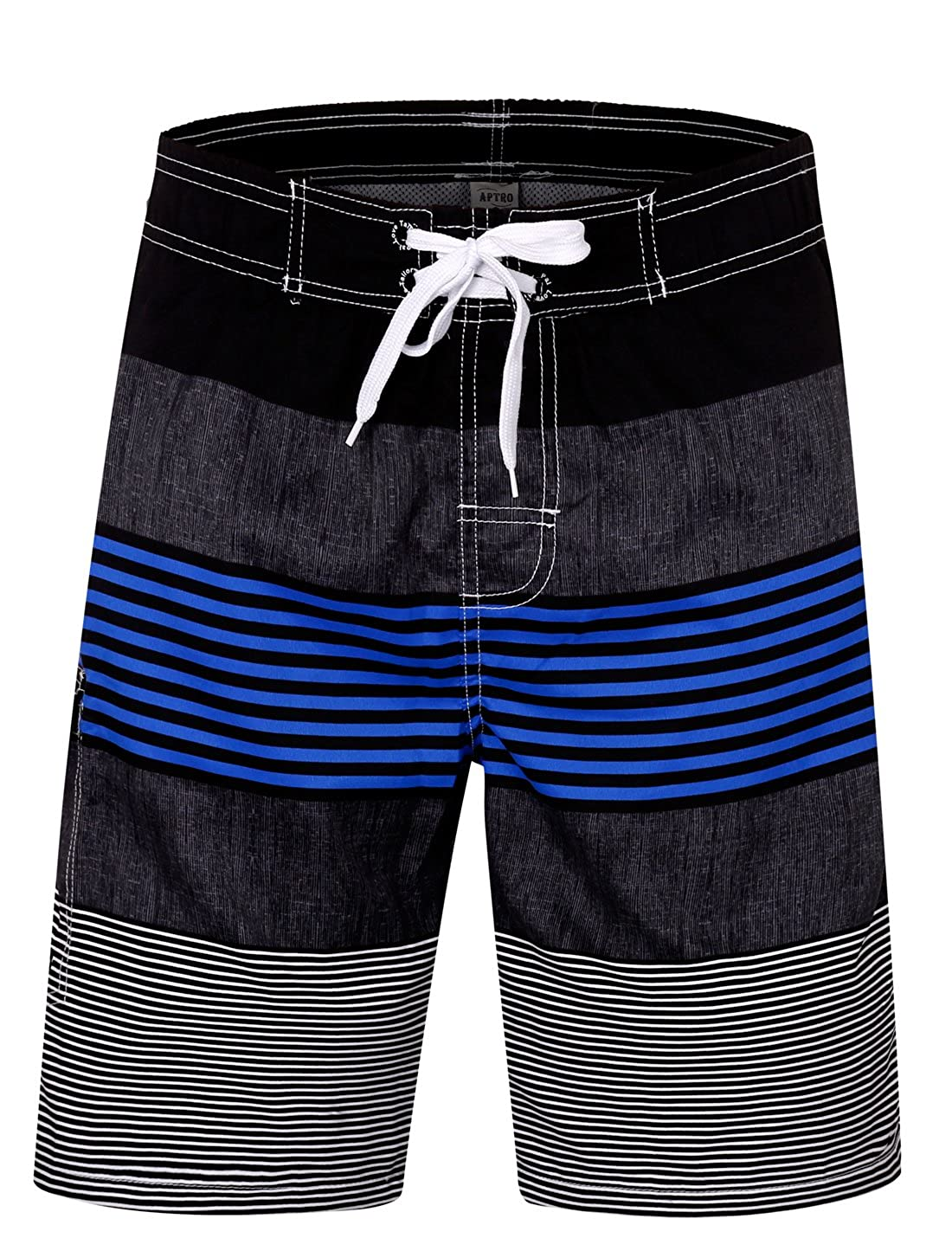 APTRO Men's Swim Trunks Beach Holiday Party Board Shorts Bathing Suits No Mesh