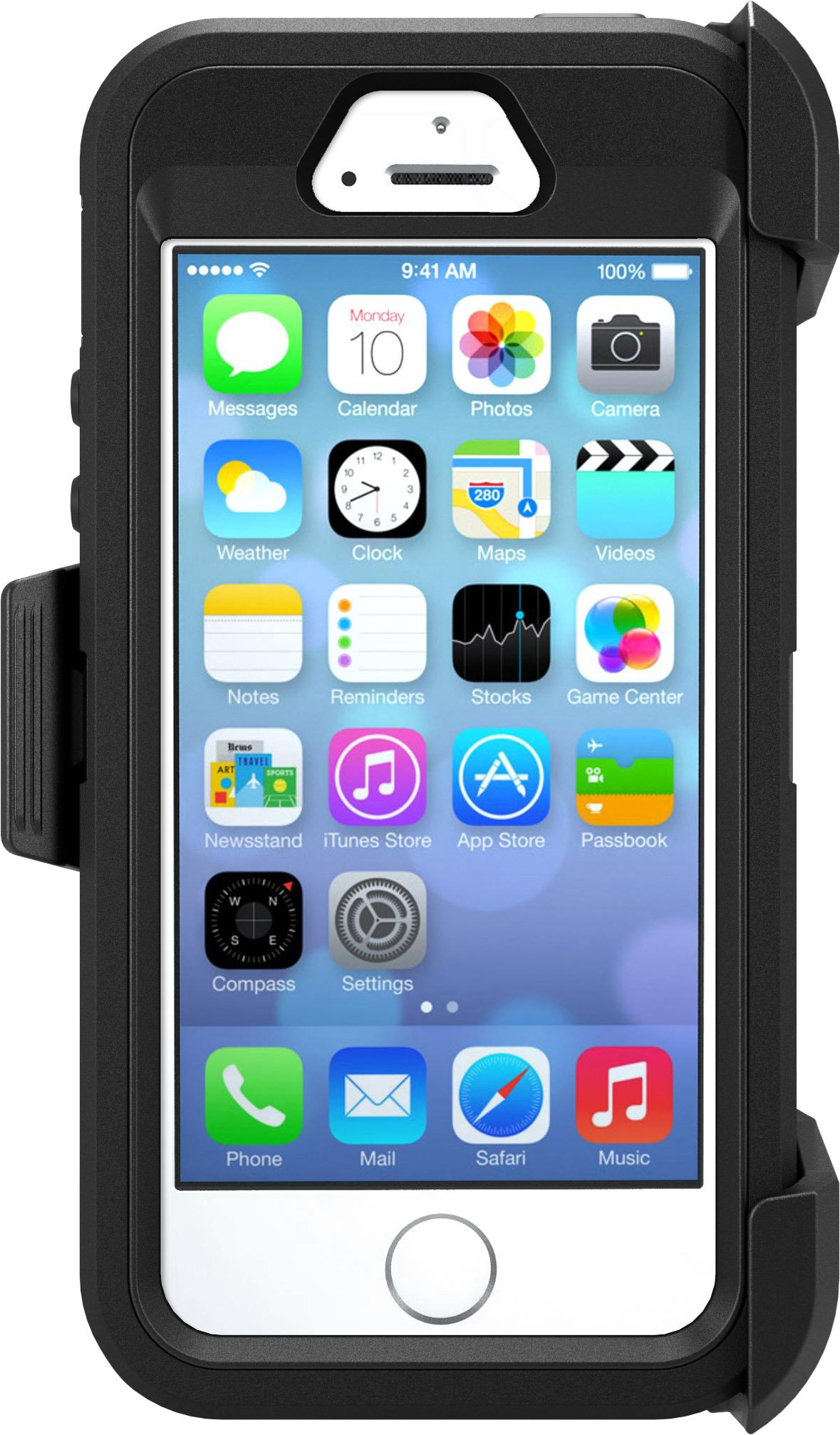 OtterBox Defender Series Case for iPhone 5/5s/SE - Black - Frustration Free Packaging by OtterBox (Image #5)