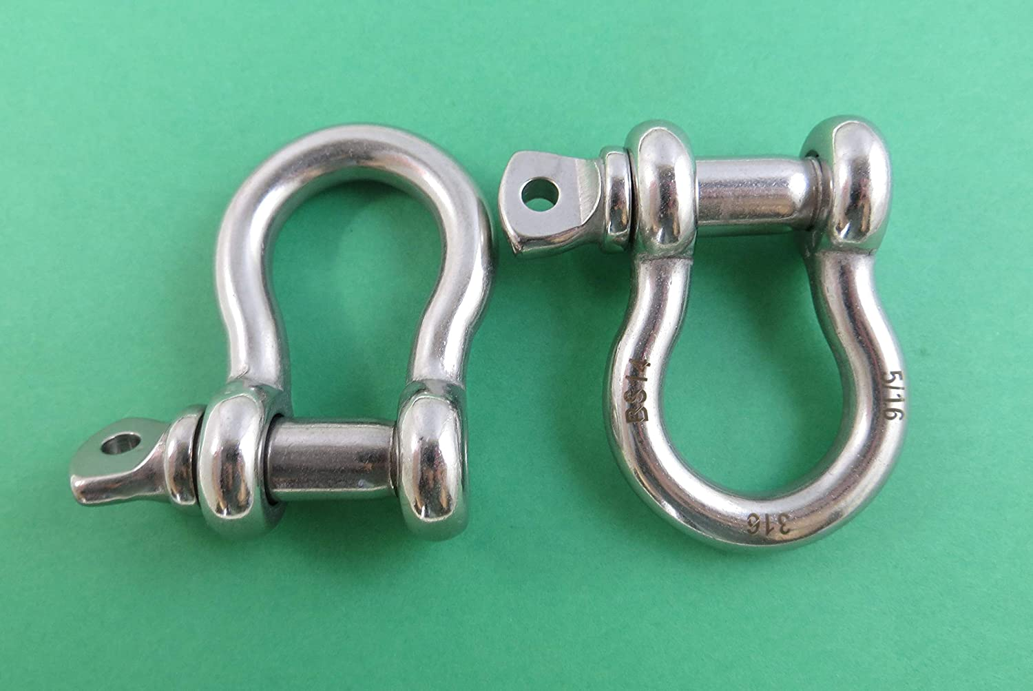 6mm by 4 Foot with 2 Stainless Steel Shackles Boat US Stainless 4 Foot Stainless Steel 316 Anchor Chain 1//4