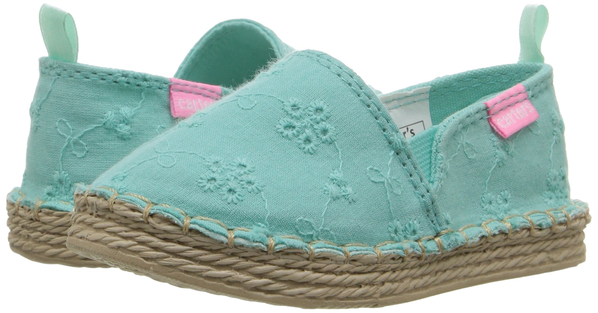 Carter's Astrid Girl's Espadrille Slip-On, Turquoise, 10 M US Toddler by Carter's (Image #6)