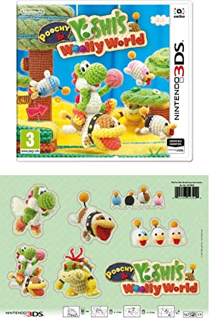 3DS Poochy and Yoshis Woolly World + Parches de tela: Amazon.es ...