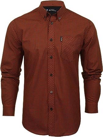 Ben Sherman - Camisa de cuadros de manga larga para hombre: Amazon ...