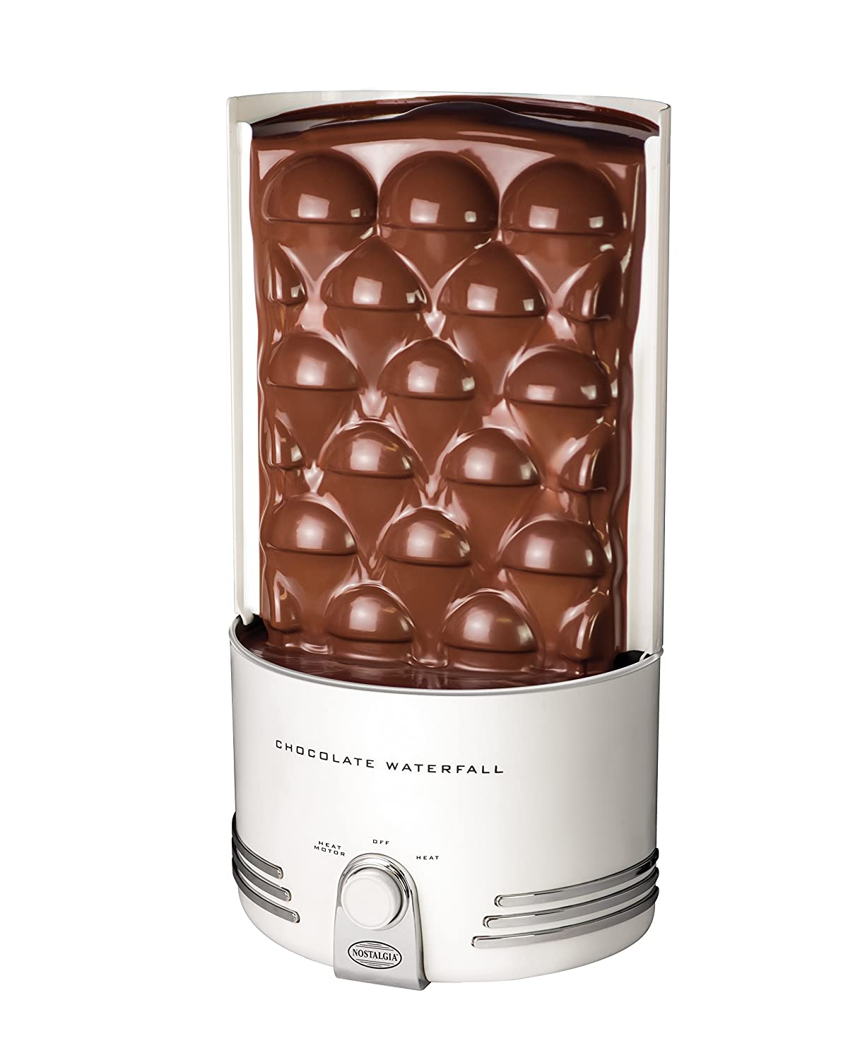 Nostalgia CFF986 4-Tier 2-Pound Capacity Stainless Steel Chocolate Fondue Fountain Emgee