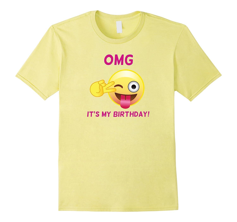 Pink Emoji OMG Its My Birthday T Shirt