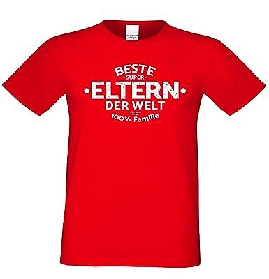 Beste Eltern der Welt :: Geschenkset : Herren T-Shirt und Urkunde für den