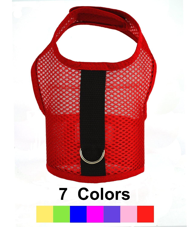 Air Mesh Dog Cat Choke-Free Vest Harness in 7 Colors