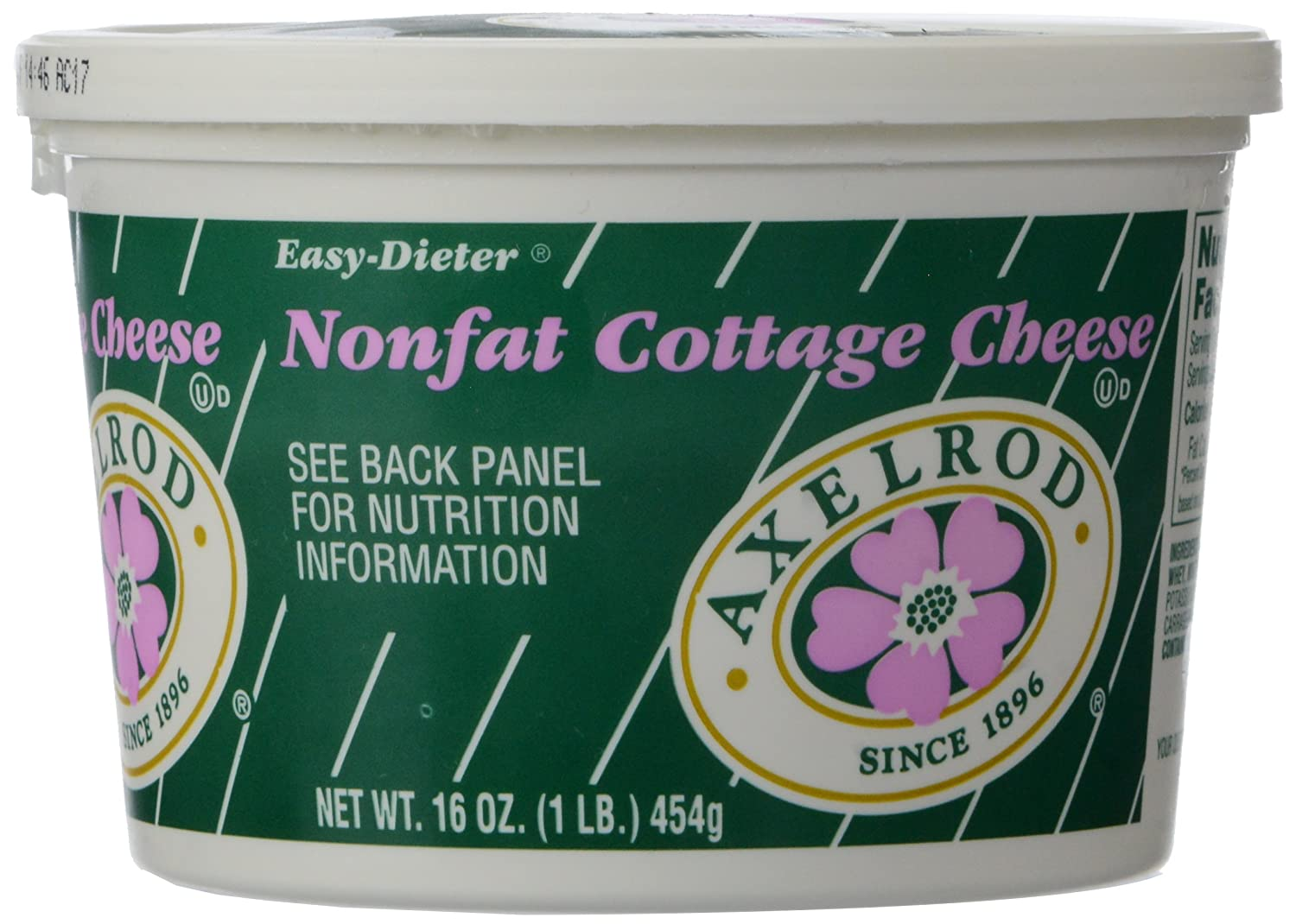 axelrod fat free plain cottage cheese 16 oz amazon com grocery