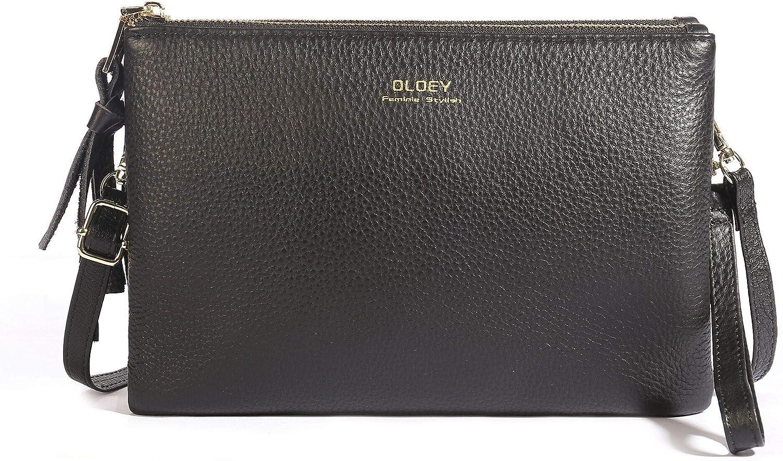 Large Wristlet Purses for Women, Leather Crossbody Wallets Double Pocket Wristlet Clutch Bag with Ajustable Strap