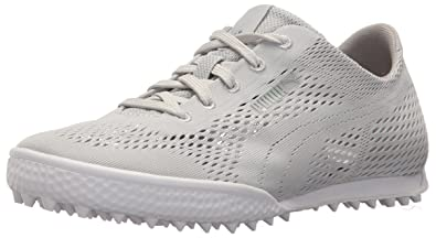 PUMA Golf Womens Monolite Cat Woven Golf Shoe Glacier Gray/Glacier Gray 6.5 Medium US