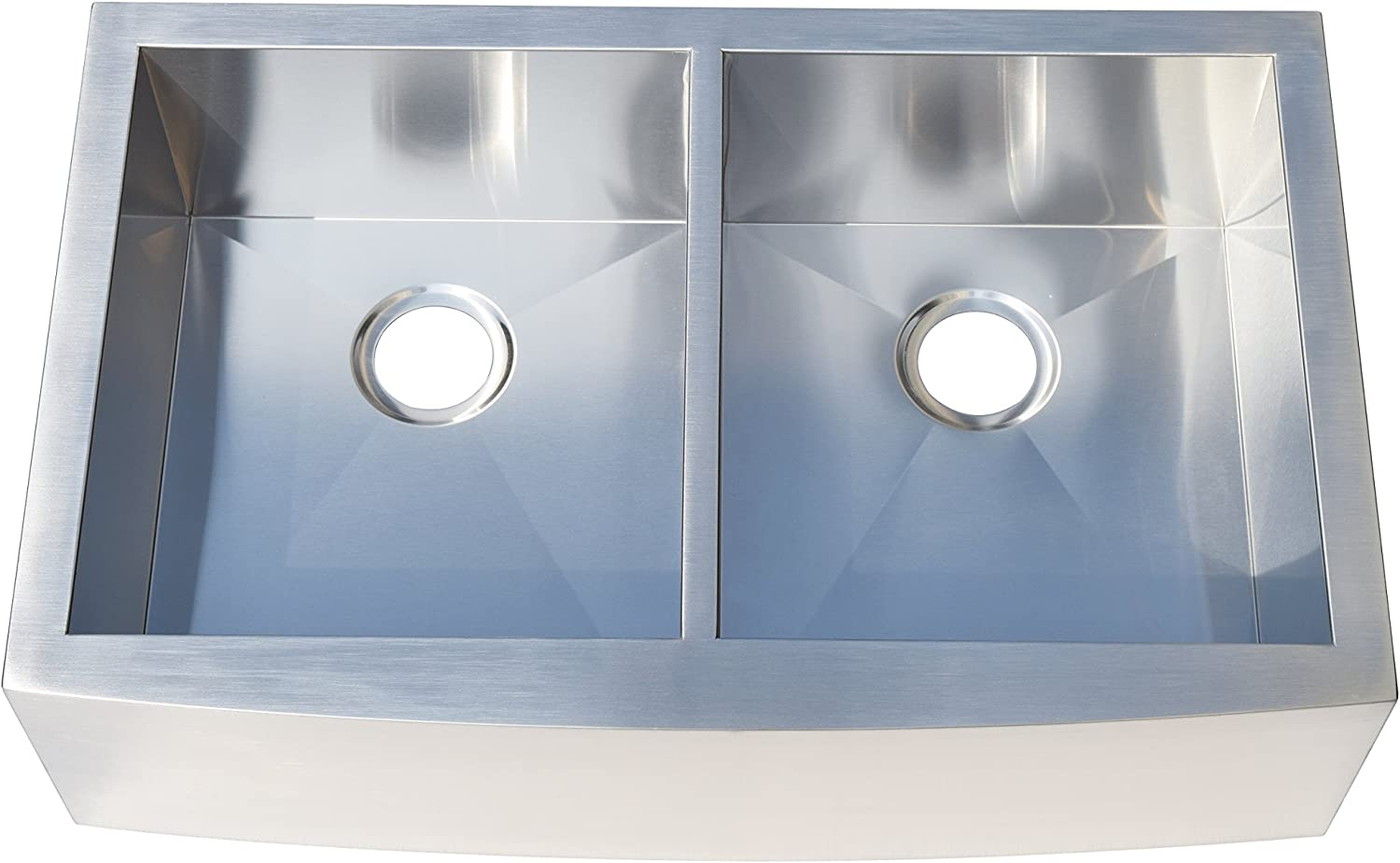 Farmhouse Apron Front Stainless Steel 33 in. Double Basin Kitchen Sink