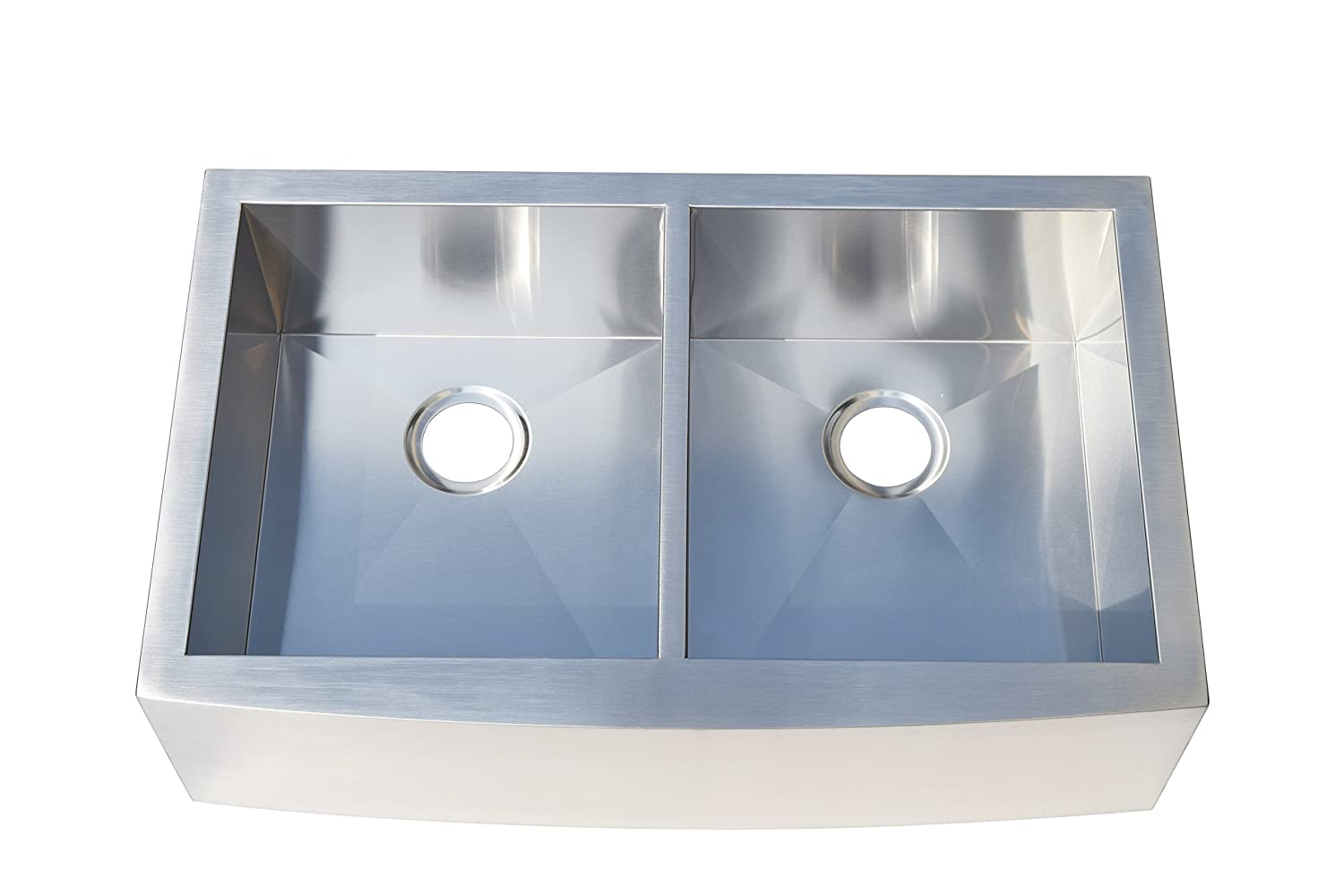 Farmhouse Apron Front Stainless Steel 33 in. Double Basin Kitchen ...